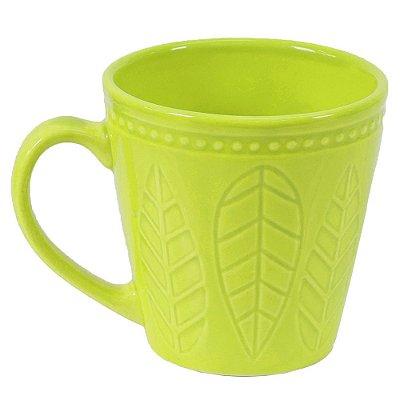 Caneca Corona Relieve 300ml Verde Mint - Yoi