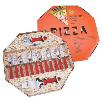 Kit para Pizza Tramontina - Vermelho - 14 peças