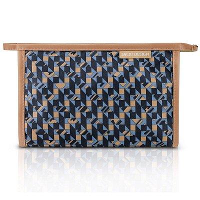 Necessaire Envelope Classic - Azul Geométrica