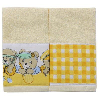 Kit Infantil Carinhosos Amarelo - 2 Peças - Toalhas São Carlos