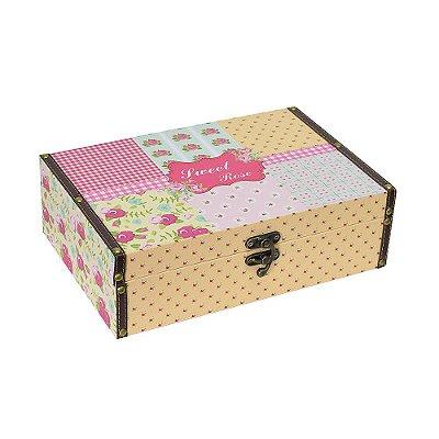 Caixa Decorativa Sweet Rose Média - Mart