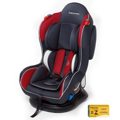 Cadeira para Auto Transbaby - Grafite/Vermelho - Galzerano