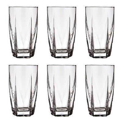 Jogo de Copos Estela Long Drink - 6 Peças - Nadir