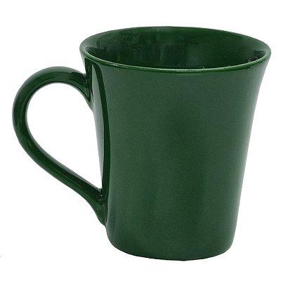Caneca em Porcelana 330ml - Verde - Oxford