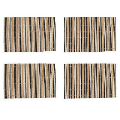 Conjunto Jogo Americano Bambu Listrado Palha - 4 peças