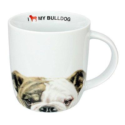 Caneca em Porcelana I Love My Bulldog - Dynasty