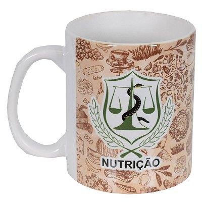 Caneca de Cerâmica Profissões - Nutrição - Vikos