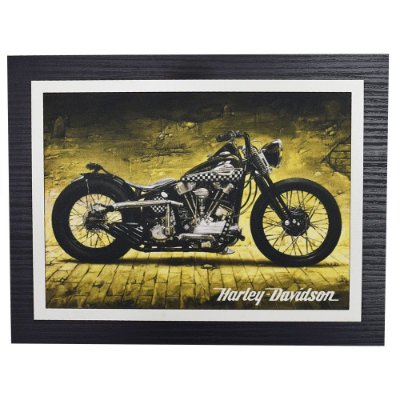 Quadro Decorativo Harley Davidson Night - 30 x 23 cm