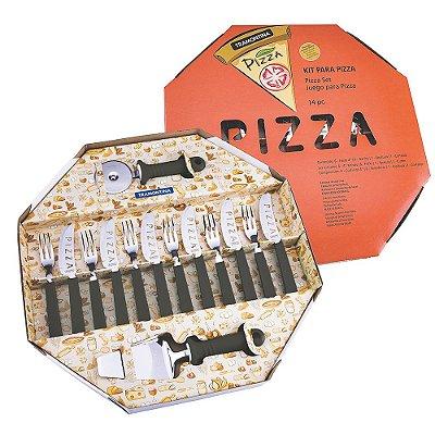 Kit para Pizza Tramontina - Preto - 14 Peças