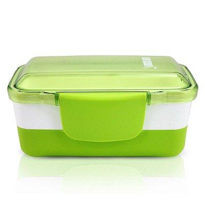 Pote para Alimentos Fitness - 2 partes - Verde