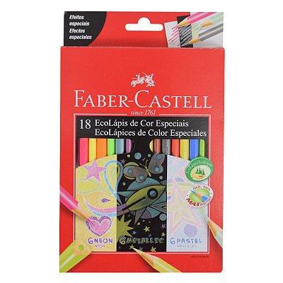 Lápis de Cor Triangular Faber Castell - Cores Especiais - 18 cores