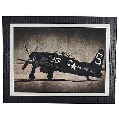 Quadro Decorativo Avião Guerra - 30 x 23 cm
