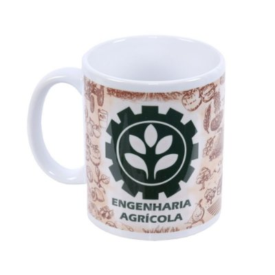 Caneca de Cerâmica Profissões - Engenharia Agrícola - Vikos