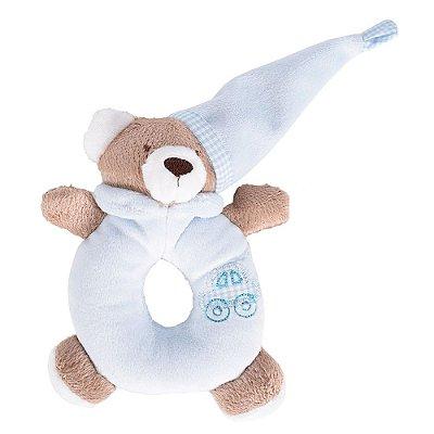 Chocalho de Pelúcia Ursinho Azul - Zip Toys