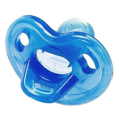 Chupeta Genius Soft Silicone Azul - De 0 a 6 meses - NUK