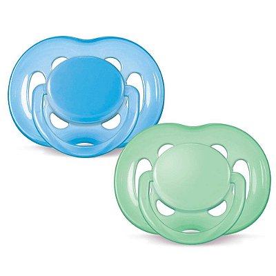 Kit Chupetas Freeflow Ortodôntica - Fase 2 - Azul e Verde - Philips Avent
