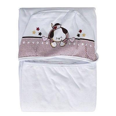 Toalha de Banho com Capuz Navy Rosa - Colibri