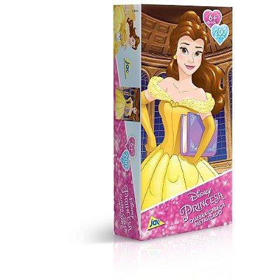 Quebra-Cabeça Metalizado Princesa Bela - 200 peças - Toyster