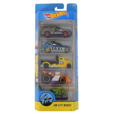Kit Hot Wheels 5 Unidades - HW City Works - Mattel