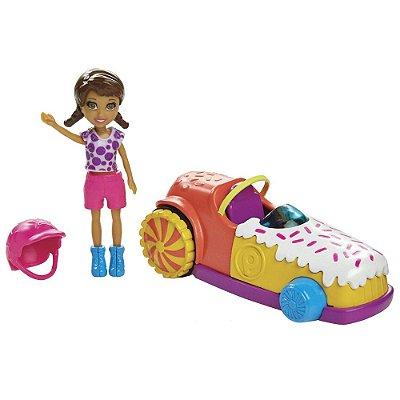 Polly Pocket - Carro Gira-Gira E Shani - Mattel