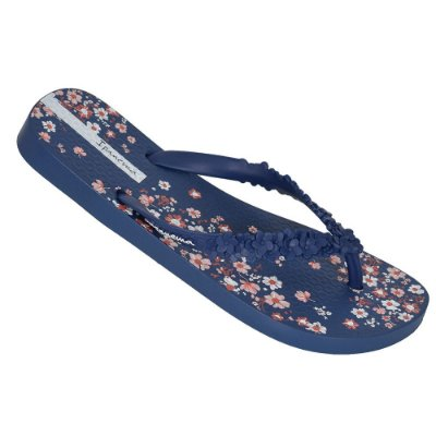 Chinelo Ipanema Fashion Floral - Azul Escuro