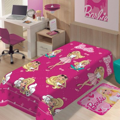 Manta Microfibra Solteiro Soft - Barbie Fashion - Jolitex