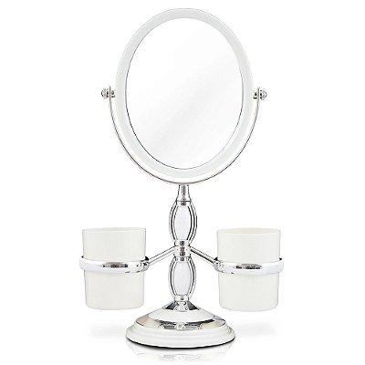 Conjunto de Espelho de Mesa - Branco - Jacki Design