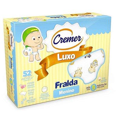 Fralda Luxo Estampada Menino - 5 unidades - Cremer