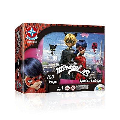 Quebra-cabeça Miraculous Ladybug - 100 peças - Estrela