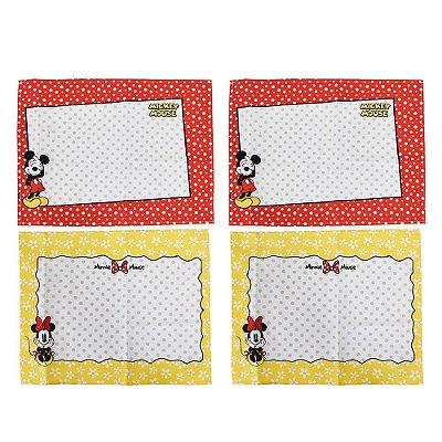 Jogo Americano Mickey e Minnie Dots - 4 peças - Lepper
