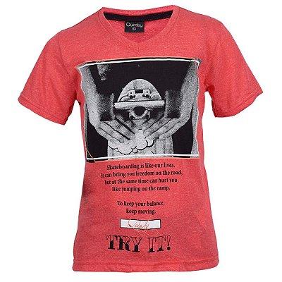 Camiseta Infantil Skateboarding - 10/14 - Quimby