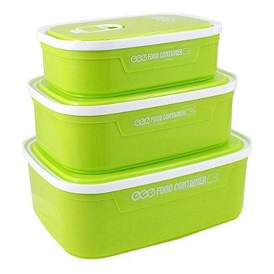 Conjunto de Potes para Alimentos Fitness - Verde