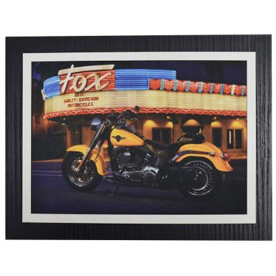 Quadro Decorativo Harley Davidson Fox - 30 x 23 cm