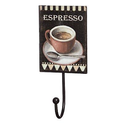 Gancho de Parede com Placa Decorativa - Espresso - Mart