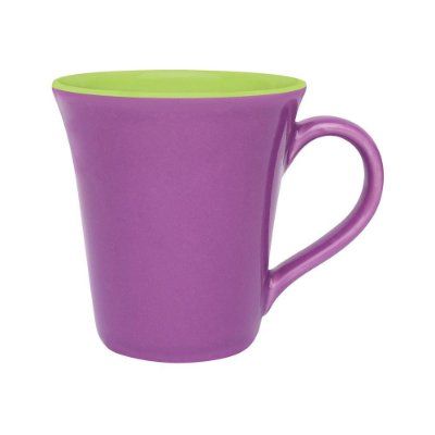 Caneca Tulipa Bicolor 330ml - Violeta/Verde - Oxford