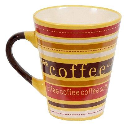 Caneca De Cerâmica Caboclo 300ml - Coffee Amarela