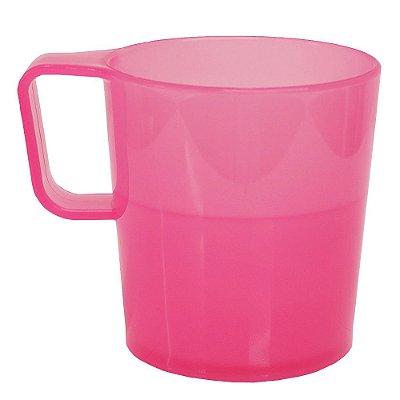 Caneca Empilhável Rosa - 250 ml - Coza