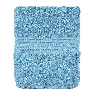 Toalha de Rosto Canelada Fio Penteado - Azul - Buddemeyer
