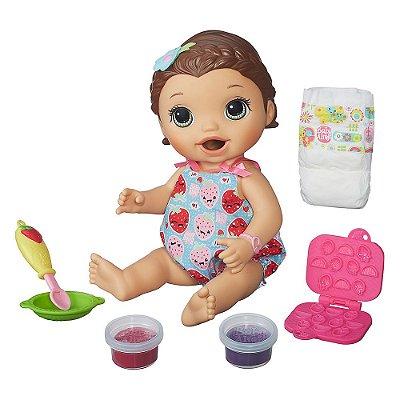 Baby Alive - Lanchinhos Divertidos - Cabelo Castanho - Hasbro