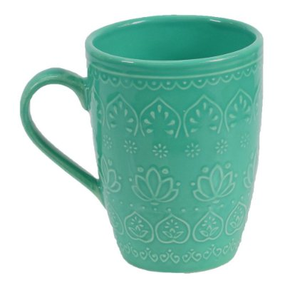 Caneca Corona Relieve 306ml Green - Yoi