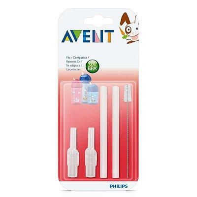 Refil de Canudos Para Substuição e Escova Para Limpeza - Philips Avent