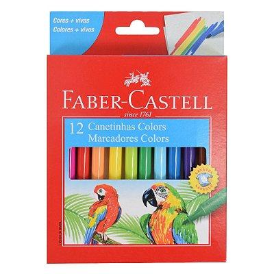 Canetinha Hidrográfica Lavável Faber Castell - 12 Cores