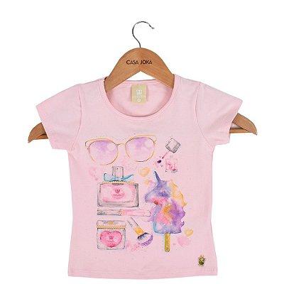 Blusa Infantil Feminina Fashionista - Rosa - Colorittá
