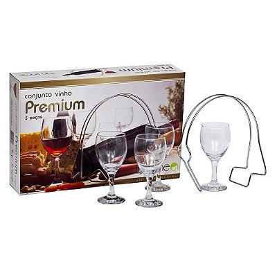Conjunto Vinho Premium - 5 peças - Top Line