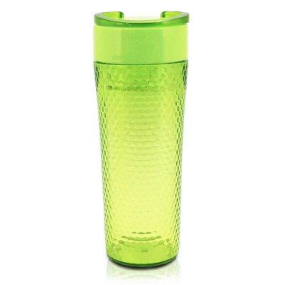 Copo com Tampa Fitness Verde - 450ml - Jacki Design