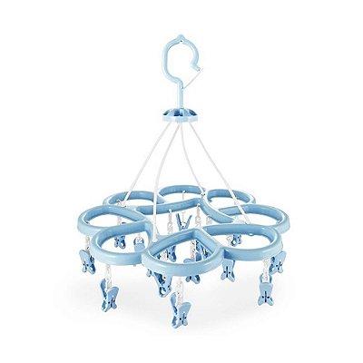 Mini Varal - 16 Pregadores - Azul - Jacki Design