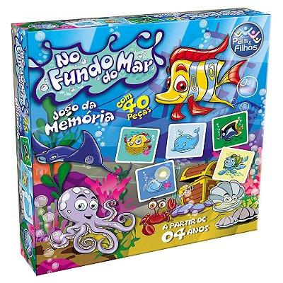 Jogo de Memória - No Fundo do Mar - Pais e Filhos