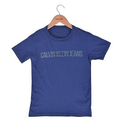 Camiseta Infantil Azul - Calvin Klein Jeans