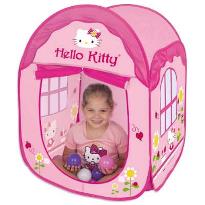 Toca House Hello Kitty com Bolinhas - Braskit