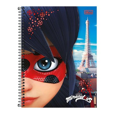 Caderno Miraculous Ladybug - Super Hero Paris - 1 matéria